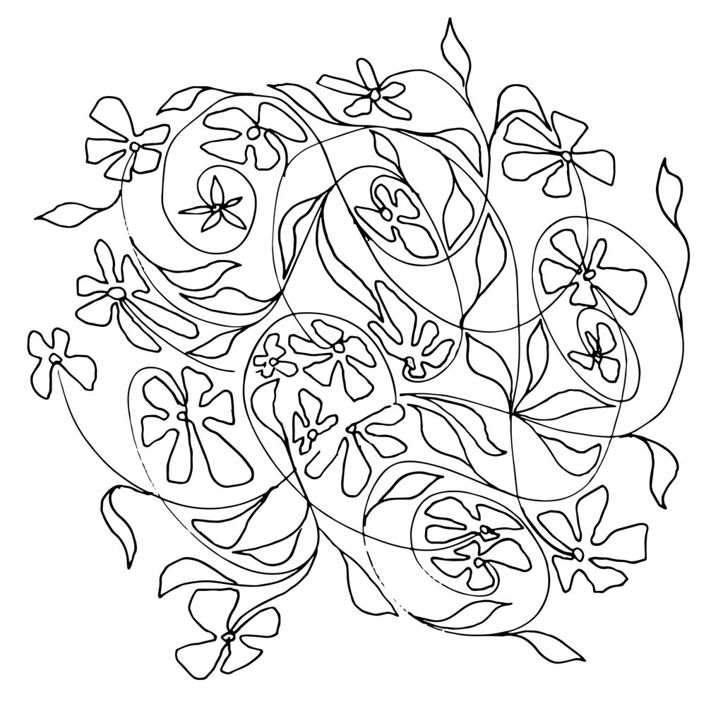 Blumen-Motiv-SW-1 | Projektionsmotive der Kunstevents