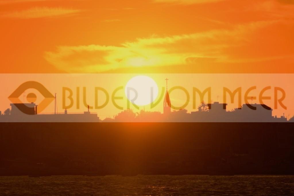 Bilder vom Meer, als Wandbild, Sonnenuntergang Bilder | Bilder Sonnenuntergang am Mar Menor, Spanien