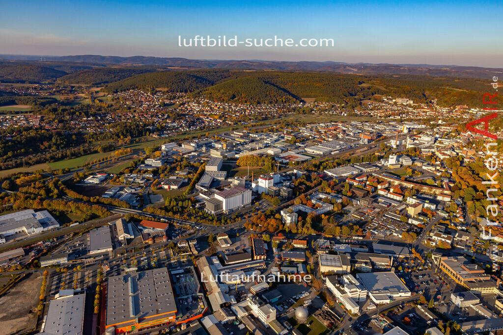 kulmbach-18-2780 | aktuelles Luftbild von  Kulmbach - Luftaufnahme wurde 2018 von https://frankenair.de mittels Flugzeug (keine Drohne) erstellt.
