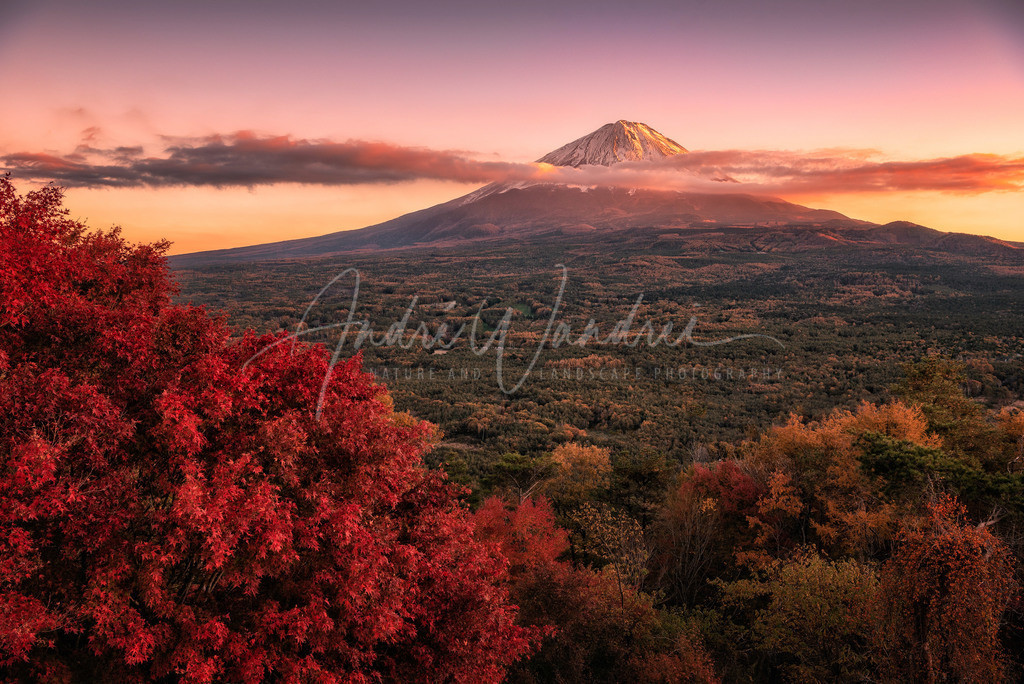 Abendstimmung am Mount Fuji