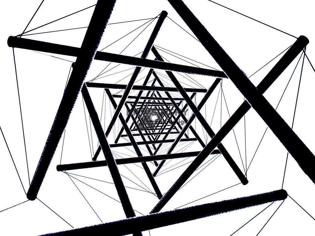 Needle Tower (by Kenneth Snelson)   Format 3x4