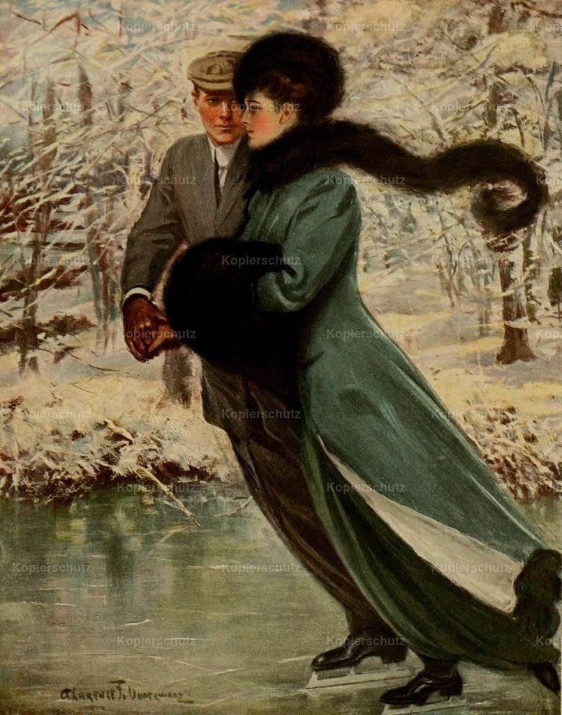 Underwood_ Clarence F. (1871-1929) - American Types 1912 - Love laughs at winter