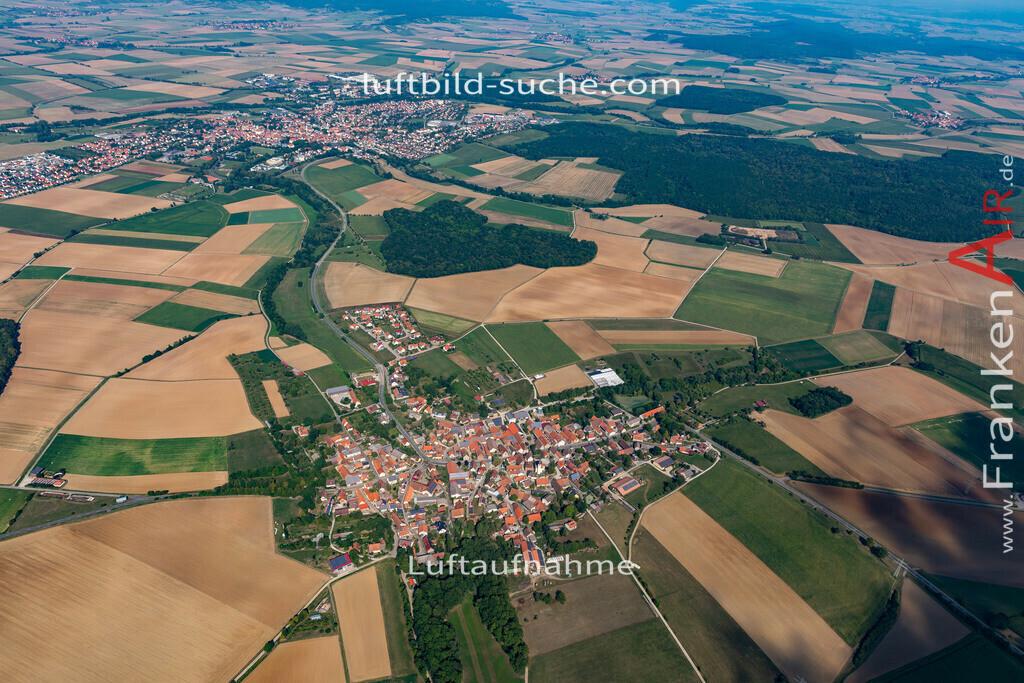 welbhausen-19-686 | aktuelles Luftbild von Welbhausen   - Luftaufnahme wurde 2019 von https://frankenair.de mittels Flugzeug (keine Drohne) erstellt.