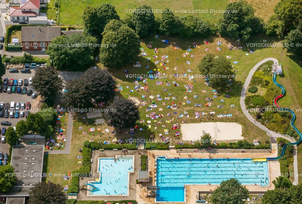 Haltern13081726   Sythen mit Freibad , Luftbild von Haltern am See