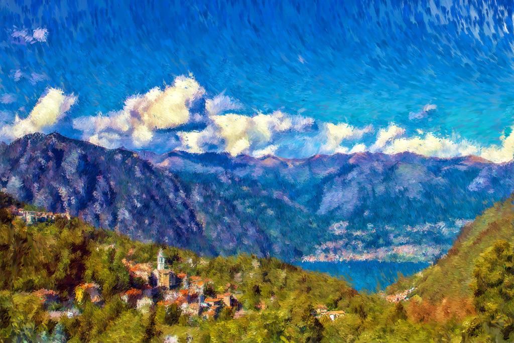 #23 Lombardei   Fotografie trifft auf Digital Painting, moderne Malerei - Mixed Media. Die Entstehung dieser Kunstserie erfolgt über Fotografie und digital Painting. Die digitale Vorgehensweise ermöglicht es mir Kunstwerke zu erschaffen die mit konventioneller Herangehensweise nicht zu realisieren sind.