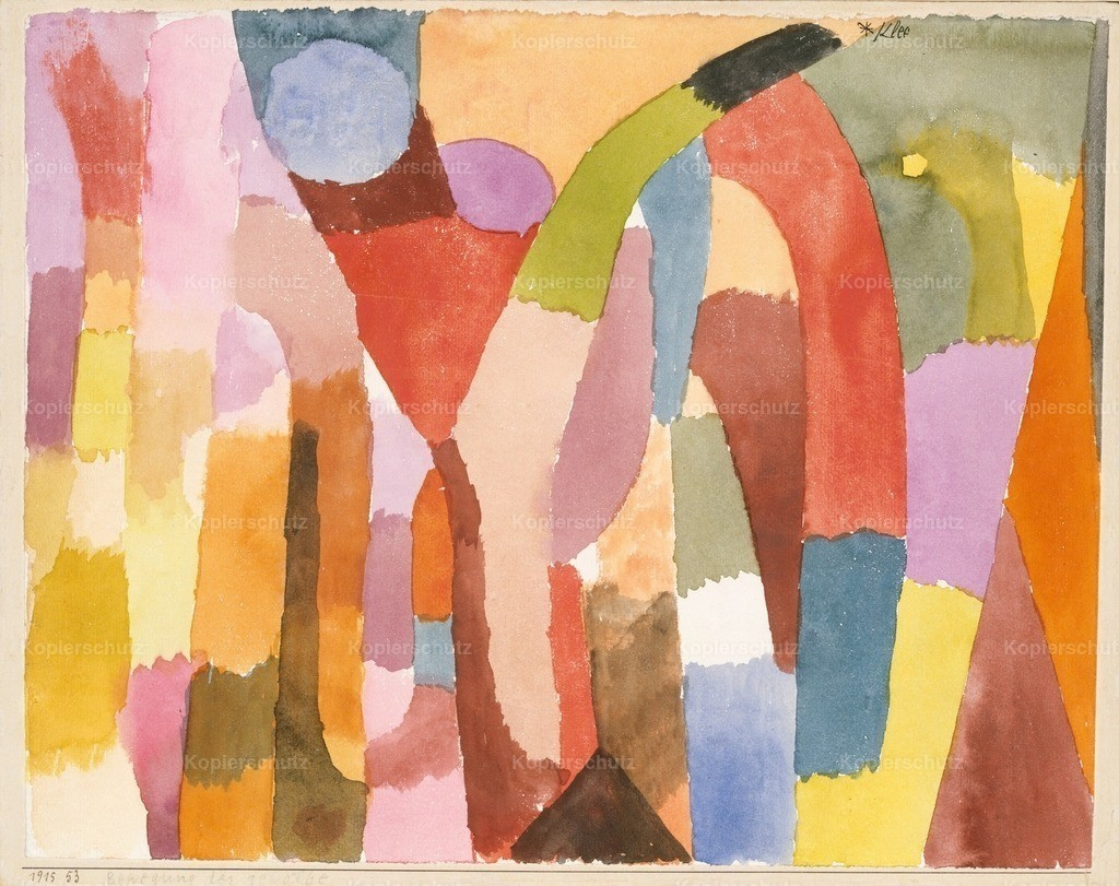 Klee_ Paul (1879-1940) - Movement of Vaulted Chambers 1915