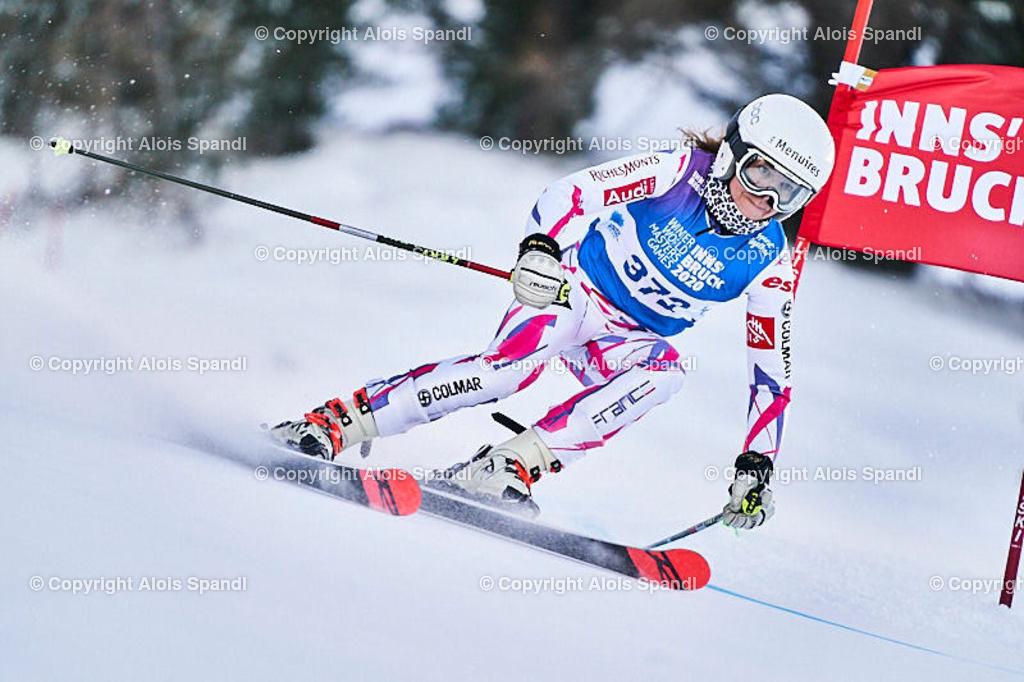 ALS5519_WWMG_GS-II_C   (C) FotoLois.com, Alois Spandl, WinterWorldMastersGames 2020 Innsbruck, Giant Slalom-II Gruppe C Damen, Patscherkofel Olympiaabfahrt, Mi 15. Jänner 2020.