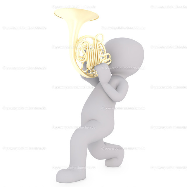 playing a trumpet | Quelle: https://3dman.eu   Jetzt 250 Bilder kostenlos sichern