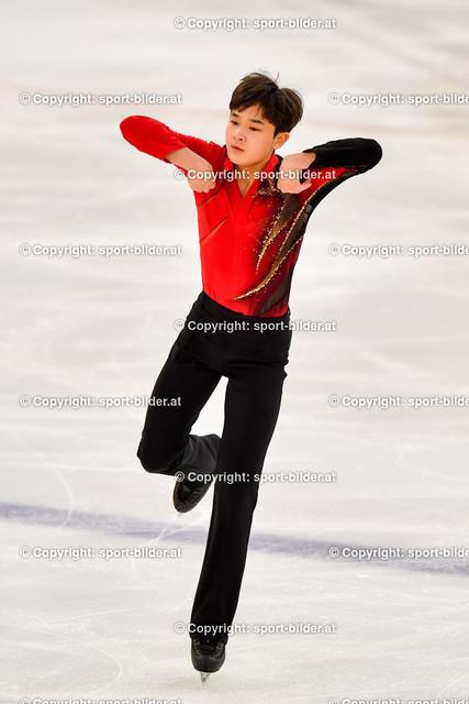 AUT, Eiskunstlaufen, Junior Grand Prix of Figure Skating 2021/2022 | 07.10.2021, Eishalle Linz, AUT, Eiskunstlaufen, Junior Grand Prix of Figure Skating 2021/2022, im Bild  Hyungyeom Kim (KOR) - Junior Men Short Program