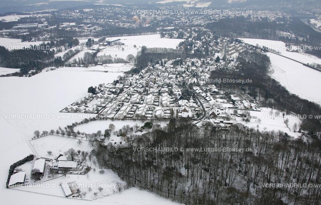 KT10011051 | Schnee,  Kettwig, Essen, Ruhrgebiet, Nordrhein-Westfalen, Deutschland, Europa, Foto: Luftbild Hans Blossey, Copyright: hans@blossey.eu, 06.01.2010, E 006° 56' 40.42