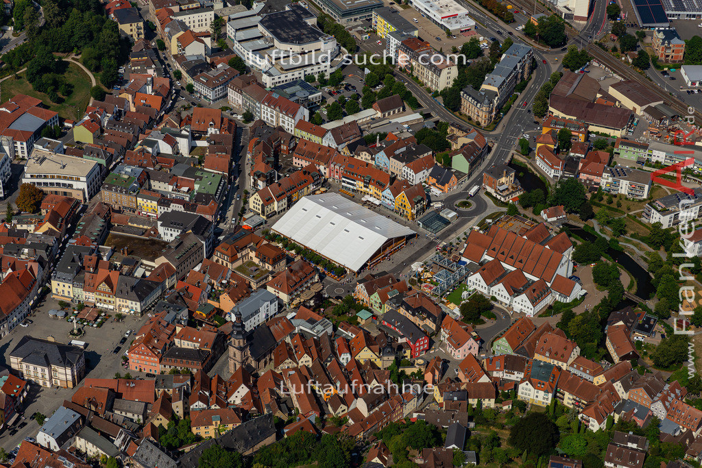 bierfest-2019-kulmbach-19-691   aktuelles Luftbild von Bierfest-2019  Kulmbach - Luftaufnahme wurde 2019 von https://frankenair.de mittels Flugzeug (keine Drohne) erstellt.