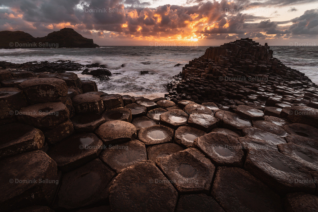 Enniscorthy | Steinformationen im Sonnenuntergang