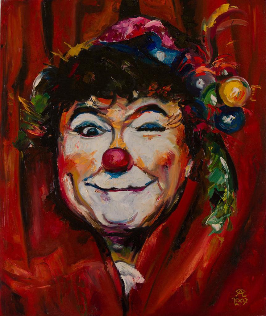 Vorhang auf für den Clown | Originalformat: 60x50cm  -  Produktionsjahr: 2007