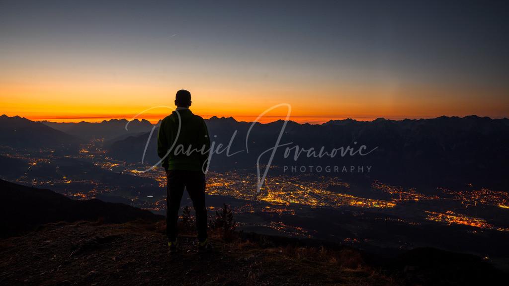 Blick | Blick nach Sonnenuntergang auf Innsbruck