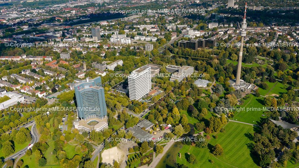 2010-10-01 Luftbilder Dortmund | Deutschland / Nordrhein-Westfalen / Dortmund / Dortmund  / Florian Fernsehturm / Telekom Tower Foto: Michael Printz / PHOTOZEPPELIN.COM