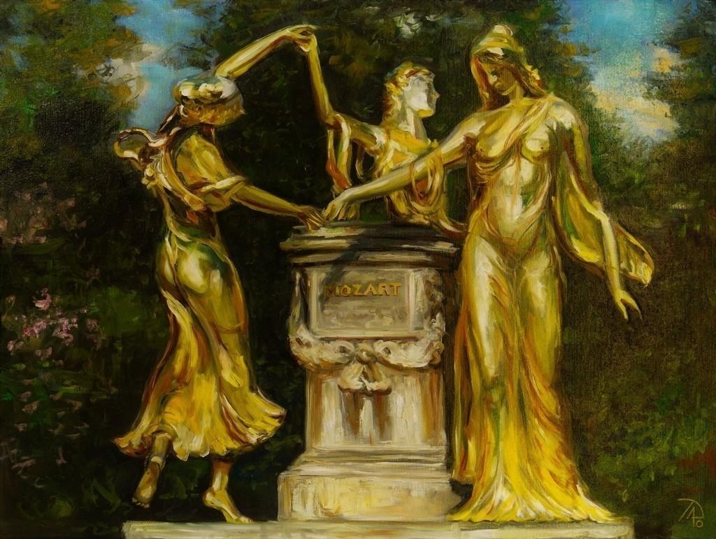 Das Mozartdenkmal | Originalformat: 60x80cm  -   Produktionsjahr: 2010
