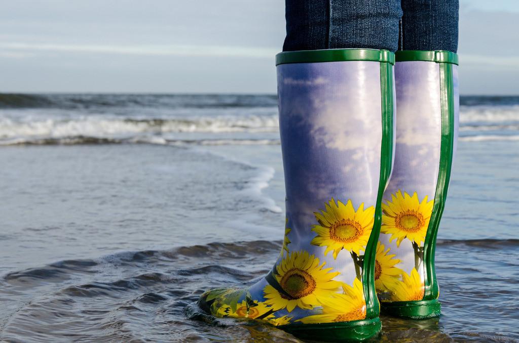 Stiefel im Wattenmeer   Stiefel im Wattenmeer vor Wangerooge