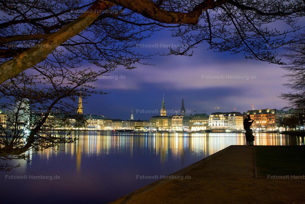 11509379 - Hamburg - Nacht an der Alster