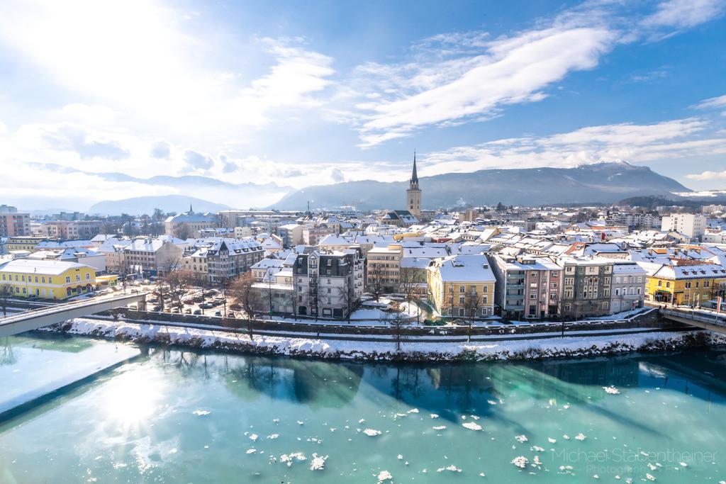 Villach | Aufnahme von Villach in Kärnten / Österreich im Winter