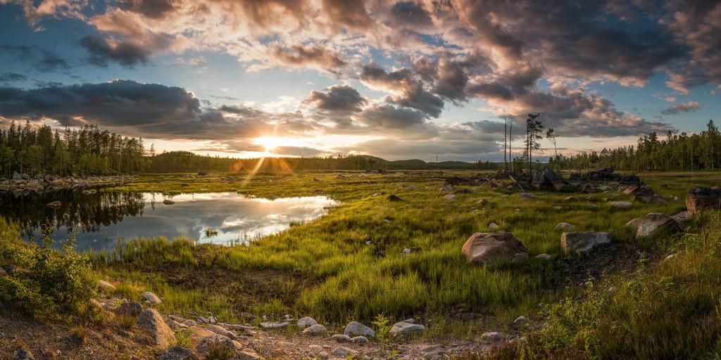 Sonnenuntergang in Schweden | Sonnenuntergang in der Gemeinde Torsby. Geodaten: 60°42'00.2