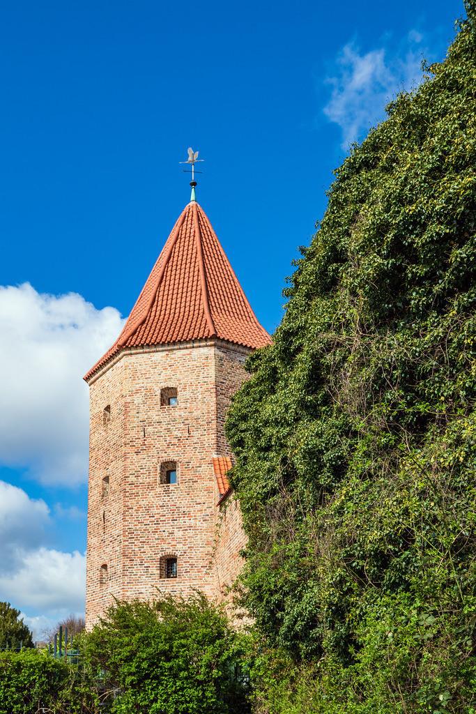 Blick auf Lagebuschturm in der Hansestadt Rostock | Blick auf Lagebuschturm in der Hansestadt Rostock.