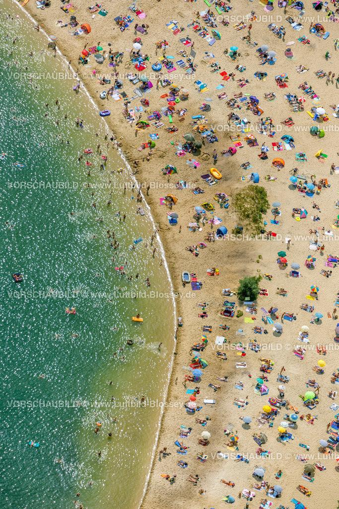 Haltern13081740 | Silbersee II aus der Luft, Sandstrand und türkisfarbenes Wasser, Luftbild von Haltern am See