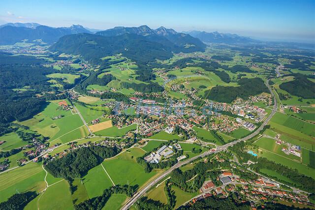 luftbild-siegsdorf-bruno-kapeller-01 | Luftaufnahme von Siegsdorf im Sommer 2016