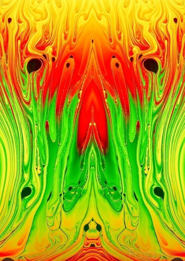 Magma rot rot gelb grün komb 2 | Fotografische Kunst