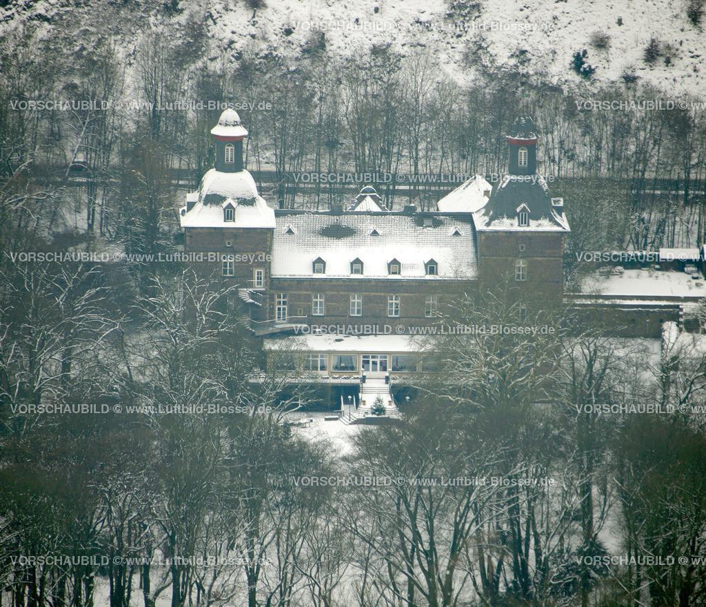 KT10011187 | Schnee,  Kettwig, Essen, Ruhrgebiet, Nordrhein-Westfalen, Deutschland, Europa, Foto: Luftbild Hans Blossey, Copyright: hans@blossey.eu, 06.01.2010, E 006° 56' 30.53