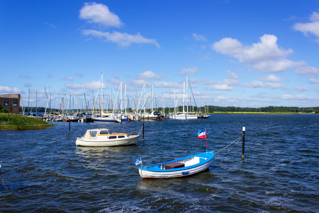 Yachthafen in Maasholm | Yachthafen in Maasholm im Sommer