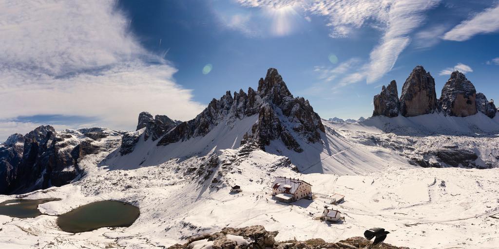 Panorama bei den Drei Zinnen | Paternkofel und Drei Zinnen im Winterkleid