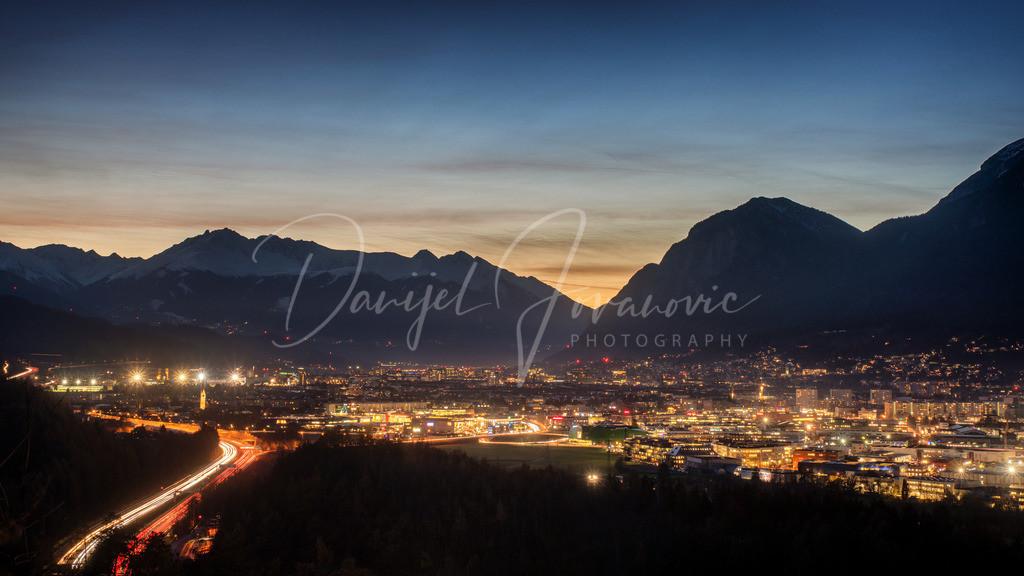 Abendstimmung | Abendstimmung in Innsbruck mit Blick nach Westen