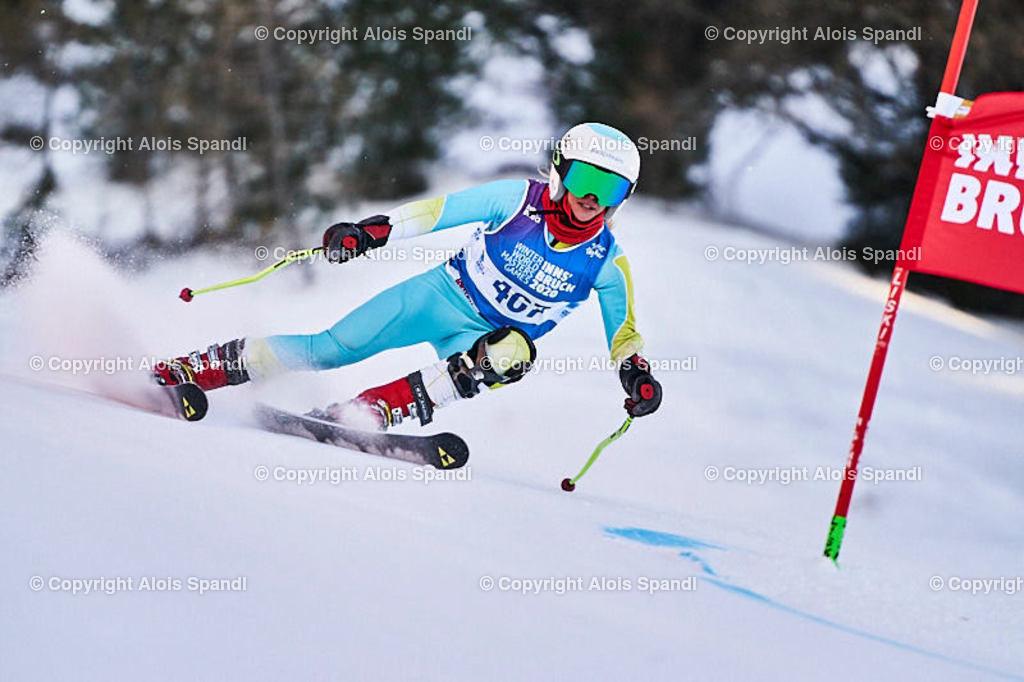 ALS6010_WWMG_GS-II_C | (C) FotoLois.com, Alois Spandl, WinterWorldMastersGames 2020 Innsbruck, Giant Slalom-II Gruppe C Damen, Patscherkofel Olympiaabfahrt, Mi 15. Jänner 2020.