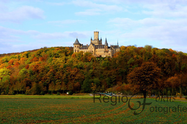 Marienburg an einem Herbsttag | Die Marienburg erstrahlt in der herbstlichen Nachmittagssonne
