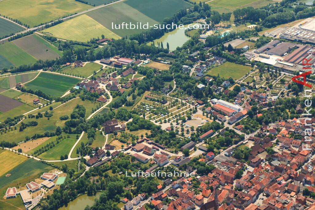 fraenkisches-freilandmuseum-bad-windsheim-2015-1400 | Luftbild von Fraenkisches-freilandmuseum Bad-windsheim - Luftaufnahme wurde 2015 von https://frankenair.de mittels Flugzeug (keine Drohne) erstellt - die Geschenkidee