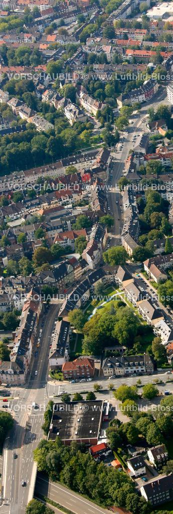 ES10094196a | Rellinghauser Strasse, Luftbild,  Essen, Ruhrgebiet, Nordrhein-Westfalen, Germany, Europa, Foto: hans@blossey.eu, 05.09.2010
