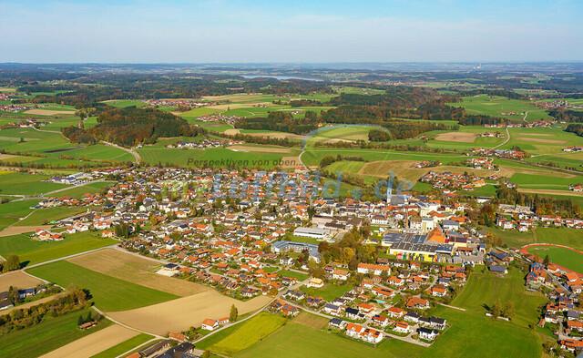 luftbild-teisendorf-bruno-kapeller-42 | Luftaufnahme von Teisendorf im Herbst 2019
