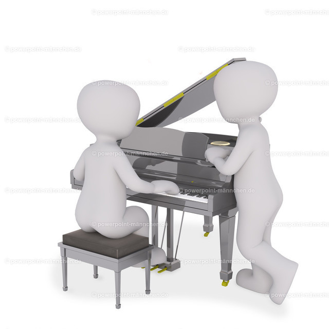 piano player with friend
