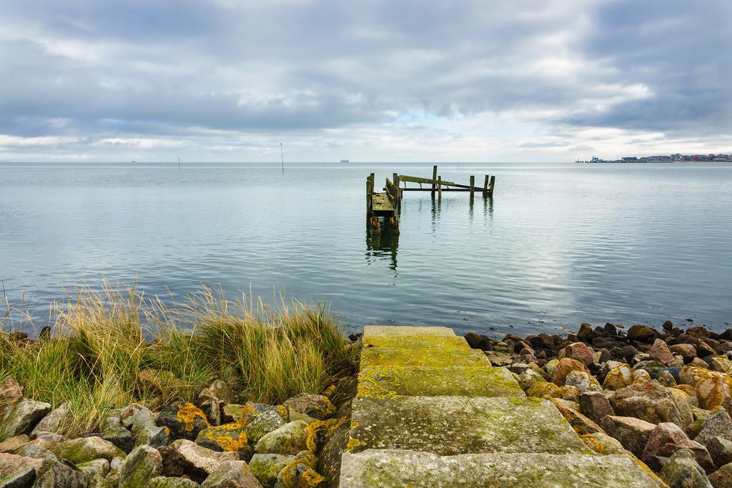 Steg am Wattenmeer auf der Insel Amrum | Steg am Wattenmeer auf der Insel Amrum.