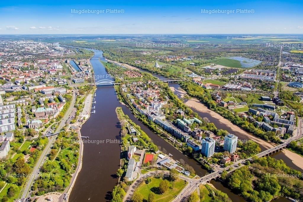 Luftbild Magdeburg Werder Elbe Rtg Norden Das Foto IMG_2186