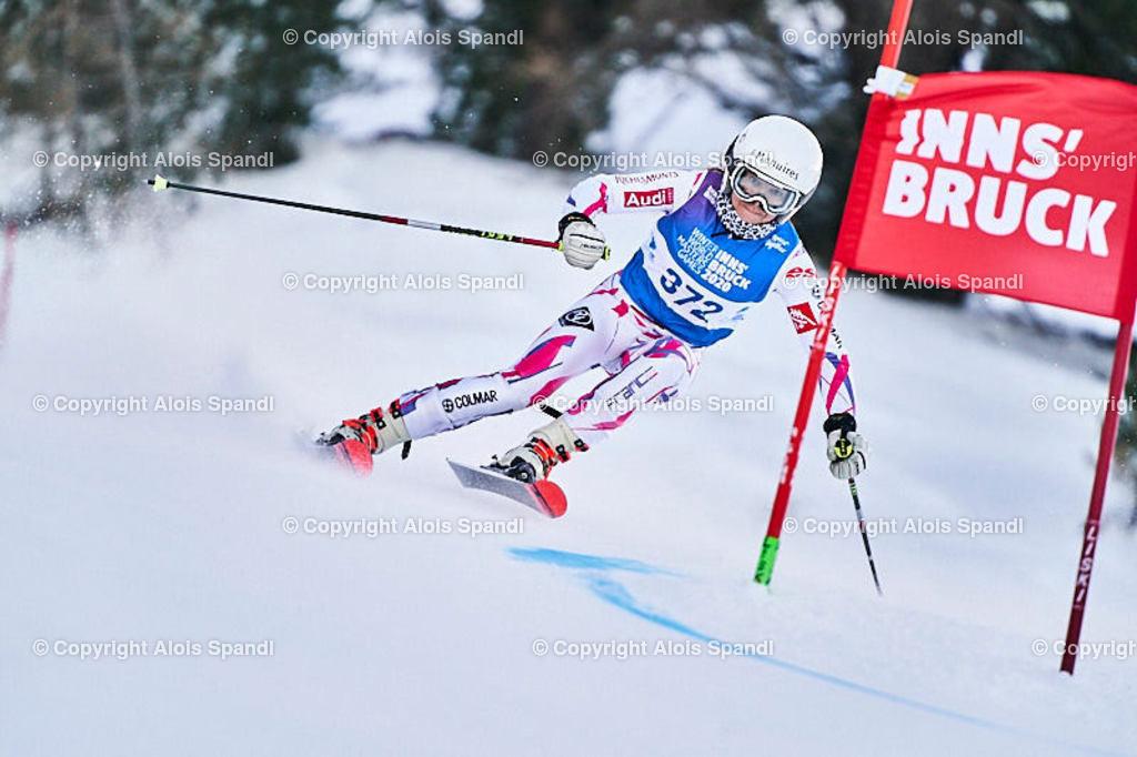 ALS5514_WWMG_GS-II_C | (C) FotoLois.com, Alois Spandl, WinterWorldMastersGames 2020 Innsbruck, Giant Slalom-II Gruppe C Damen, Patscherkofel Olympiaabfahrt, Mi 15. Jänner 2020.