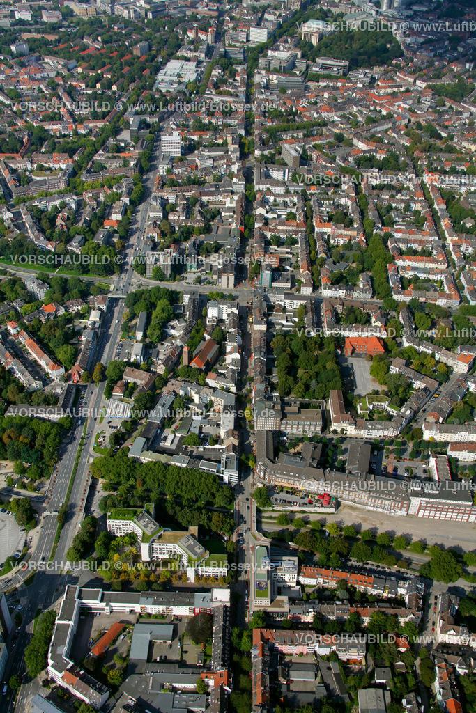 ES10094215 | Ruettenscheider Strasse, Luftbild,  Essen, Ruhrgebiet, Nordrhein-Westfalen, Germany, Europa, Foto: hans@blossey.eu, 05.09.2010