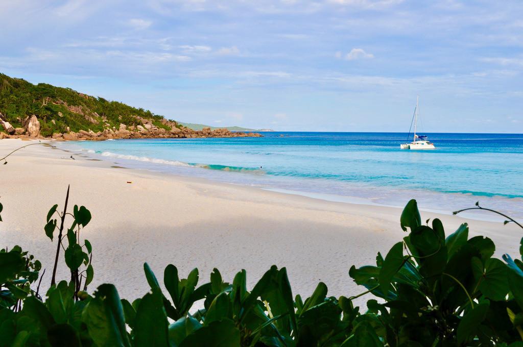 Seychellen - Anse Cocos | Atemberaubender Blick auf den Strand Anse Petite