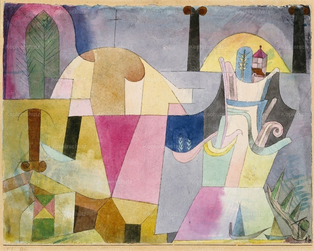 Klee_ Paul (1879-1940) - Black Columns in Landscape 1919
