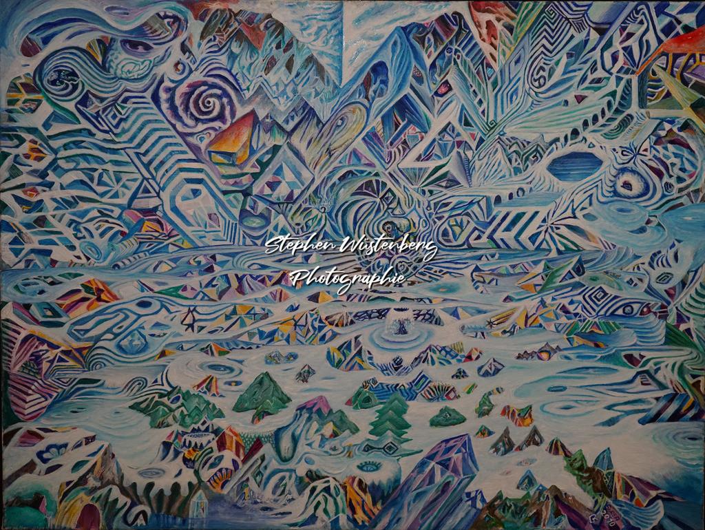 Gingel-0031 Spiel mit Mustern | Roland Gingel Artwork @ Gravity Boulderhalle, Bad Kreuznach