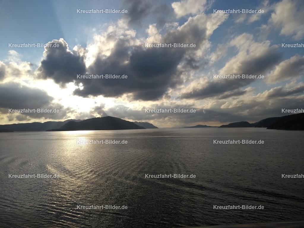 Lysefjord am Abend | Der Lysefjord von der MS Albatros
