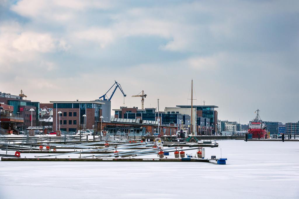 Winter im Stadthafen in Rostock | Winter im Stadthafen in Rostock.
