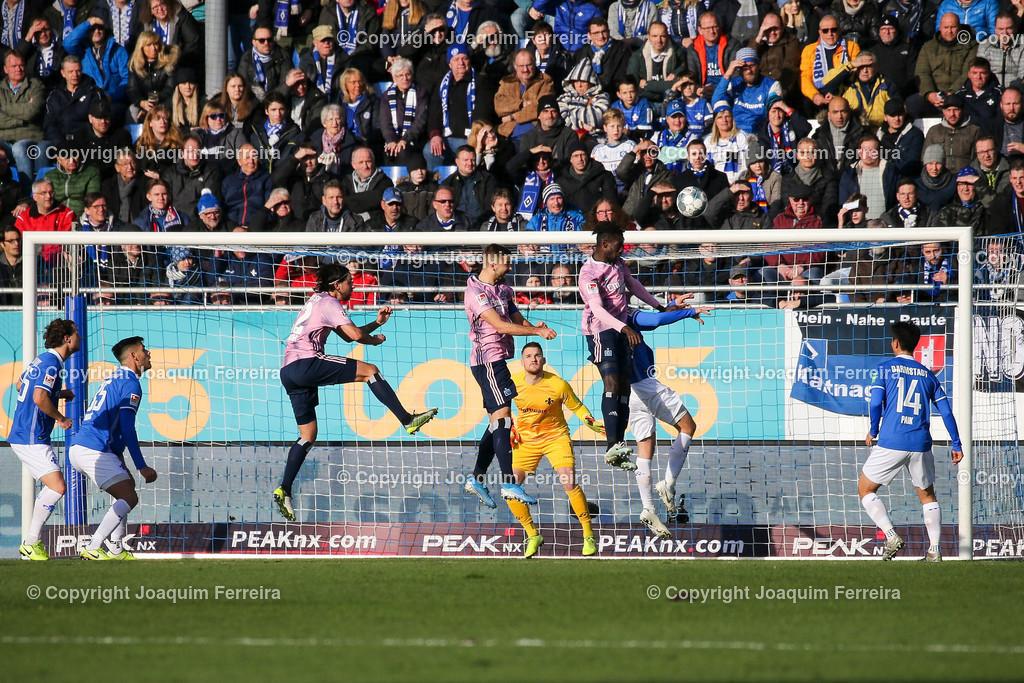 191221svdvshsv_0522 | 21.12.2019 Fussball 2.Bundesliga, SV Darmstadt 98-Hamburger SV emspor, despor  v.l.,  Lukas Hinterseer (Hamburger SV) Goal scored, Tor zum 0:1    (DFL/DFB REGULATIONS PROHIBIT ANY USE OF PHOTOGRAPHS as IMAGE SEQUENCES and/or QUASI-VIDEO)