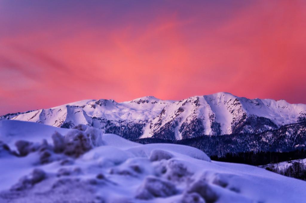 Sengsengebirge im Abendrot