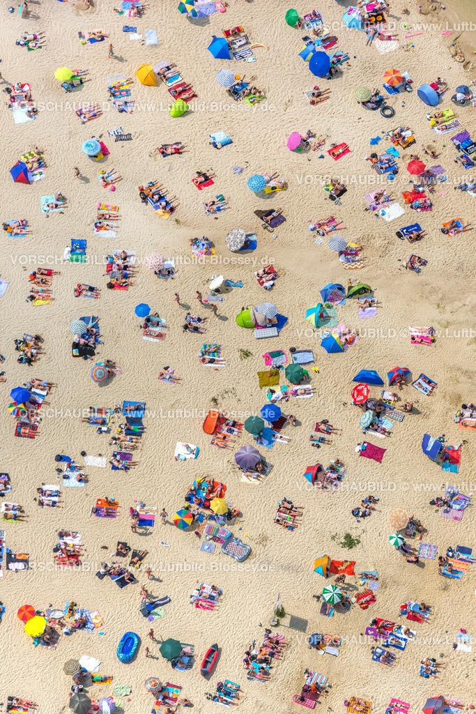 Haltern13081791 | Silbersee II aus der Luft, Sandstrand und türkisfarbenes Wasser, Luftbild von Haltern am See